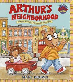 Arthur's Neighborhood (Great Big Board Book) by Marc Brown http://www.amazon.com/dp/0679867376/ref=cm_sw_r_pi_dp_Z62wub19A56RK