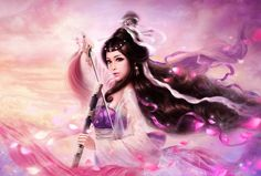 by Ruoxin Zhang. Set of stunning digital female portrait illustrations.
