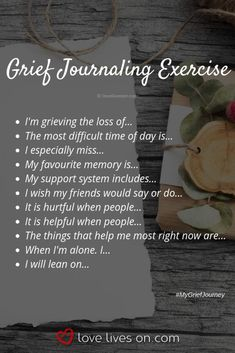 Writing in the journal allows oneself to reflect on their emotions, and thoughts. The goals is to allow the child to open up, express what they are feeling. Grief Activities, Counseling Activities, Therapy Activities, Grief Counseling, Counseling Quotes, Grieving Quotes, Grief Quotes Child, Grief Dad, Journal Writing Prompts