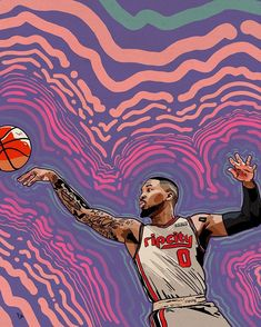 Instagram 上的 Pete:「 Tomorrow, when you're at work, and someone asks you what time is it, tell them it's dame time and just walk away. 45PTS, 11/13 from three… 」 Mvp Basketball, Basketball Stuff, Best Nba Players, Damian Lillard, Nba Wallpapers, Portland Trailblazers, Trail Blazers, Dame, Concept Art