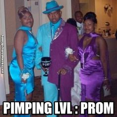 Pimping Level Prom Funny Guy With Two Prom Dates Mixed Color Tux
