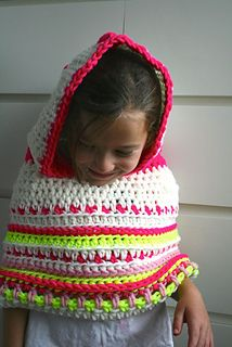 crochet poncho with hood #crochetpattern #crochet