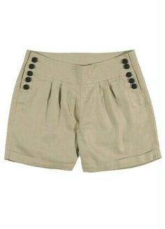 button sailor short