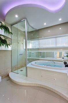 Dream Home Design, Home Interior Design, House Design, French Country House Plans, Mansion Interior, Property Design, Bathroom Design Luxury, Dream Bathrooms, House Rooms