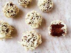Ramen Chocolate Truffles : Add a little bit of crunch and playfulness to chocolate truffles. Just make your favorite chocolate truffle recipe and then roll the truffles in finely chopped raw ramen.