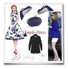 """""""simpledress19"""" by crvenamalina ❤ liked on Polyvore featuring Office, vintage and simpledres"""