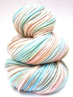 Hand Dyed Yarn  Superwash Merino Vintage DK Yarn by SunriseFiberCo, $21.00