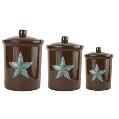 Laredo Star Western Decor Kitchen Canister Set