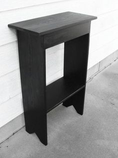 Console Table Storage Organizer Table Wooden Table Shoe Boots Shelf Entryway Foyer Mudroom Black Custom Order