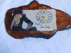 Cowboy Bebop inspired handmade wall clock Spike Spiegel clock by DKKustomDesignz…