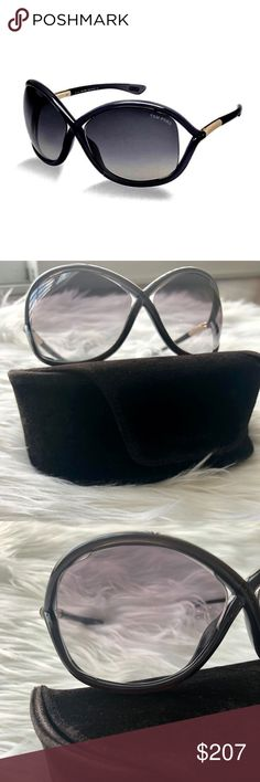 ceee898b6f1c5 TOM FORD Whitney Oversized Soft Round Sunglasses Authentic TOM FORD  oversized soft round plastic sunglasses with