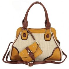 CALVIN Structured Tweed Tote Bag with Clip On Coin Purse