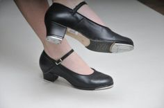 Everyone should own a pair!  Bloch Black Leather Tap / Dancing Shoes  Size 9 by funkhouse, $21.00