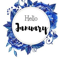 'Hello January - monthly cover for planners, bullet journals, ' Sticker by vasylissa Bullet Journal Month Cover, January Bullet Journal, Bullet Journal Art, Bullet Journal Ideas Pages, Bullet Journals, Hello January Quotes, January Month, Unisex Baby Names, Journal Stickers