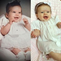The same Feltman Brothers outfit 28 years apart! Millie Jane is pictured on the right and her Mommy on the left! Simply Amazing!!  If you have any comparison photos like these we'd love to see! Email them to allie at feltmanbrothers dot com! https://feltmanbrothers.com