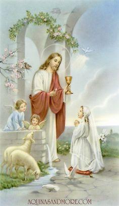 Girl's First Communion Prayer Card