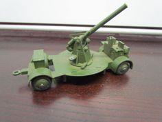 Vintage Dinky Toys #161B Army Anti Aircraft Gun Cannon Trailer Meccano Ltd