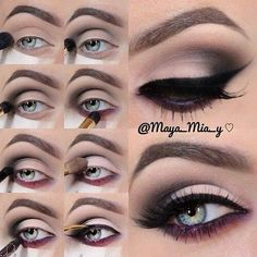 Smokey Plum Makeup