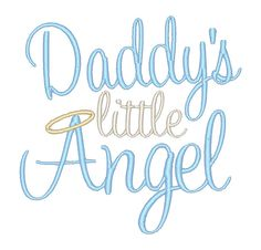 Daddy's Little Angel Bodysuit- Embroidered Bodysuit- Baby Embroidery- Custom Embroidery- Baby Shower Gift- New Baby Gift by ShesSewVain on Etsy
