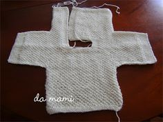 esquema fácil para casaquinho de trico que pode servir para crochê