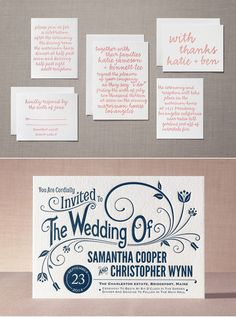 Minted.com new letterpress wedding invitations