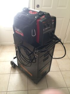 My new welder and cart! Lincoln 180 Dual and Harbor Freight cart