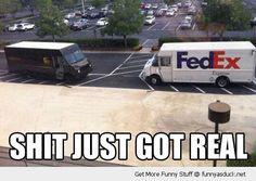 My dad works at FedEx.