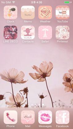 Vintage Cosmos   ★ In this screen ★ Deco Pack: Laura's Garden+Lace princess Wallpaper: Vintage Cosmos
