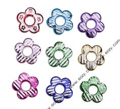 Fashion Plum Flower Hollow Colorful Acrylic Beads for Jewelry Making