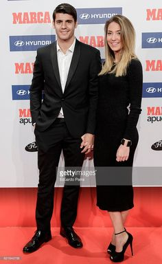 Soccer player Alvaro Morata and model Alice Campello attend MARCA Football Award 2015-2016 at Florida Park on November 7, 2016 in Madrid, Spain.