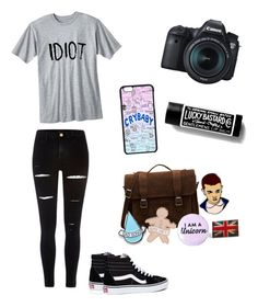 """Angelica #4"" by senpailover100 on Polyvore featuring River Island, Vans, Dr. Martens, Stay Home Club, maurices and Eos"