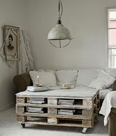Palette table on pinterest palette coffee tables coffee tables and caracol - Fabriquer table basse en palette ...
