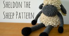 After Yarndale, my head was full of all things wooly, and what better way to commemorate the first festival than with my own tribute. Crochet Rabbit, Crochet Toys, Crochet Baby, Crochet Sheep Free Pattern, Crochet Patterns, Free Crochet, Double Crochet Decrease, Easy Crochet Projects, Knitted Animals