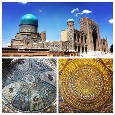 Samarkand #natgeo #lonelyplanet #lpfanphoto #tripadvisorpic #travel #adventure #wanderlust #picoftheday #instastockphoto #love #instaphoto #iphonegraphy #world #instagramers #iphoneonly #backpacking #centralasia #uzbek #uzbekistan #islam #art #design #mausoleum #tomb #mosque #samarkand #ceiling by travelustful http://bit.ly/AdventureAustralia
