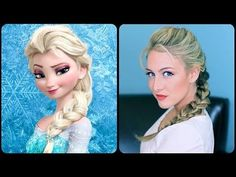 Elsa's Textured French Braid | A CuteGirlsHairstyles Disney Exclusive - YouTube