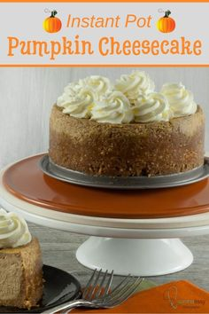 Easy and delicious pumpkin cheesecake recipe that you can do in an instant pot. A great way to use abundant pumpkin this fall season or use canned pumpkin puree for convenience. Check the recipe out for an easy Thanksgiving dessert idea. Pumpkin Cheesecake Recipes, Pumpkin Recipes, Dessert Recipes, Thanksgiving Desserts Easy, Fall Desserts, Thanksgiving Sides, Christmas Desserts, Canned Pumpkin, Pumpkin Puree