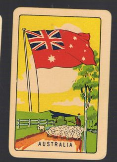 Playing-Swap-Cards-1-VINT-COLES-1ST-SERIES-NMD-FLAGS-AUSTRALIA-K78