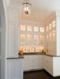 S pantry home kitchen butlers pantry, butler pantry, Kitchen Butlers Pantry, Kitchen Corner, Butler Pantry, New Kitchen, Kitchen Dining, Kitchen Decor, Kitchen Cabinets, White Cabinets, Corner Bar