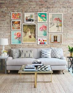 Awesome Gallery Wall Living Room Ideas - Decoration for All Cheap Home Decor, Home And Living, Living Rooms, Modern Living, Modern Wall, Apartment Living, Home Interior Design, Cafe Interior, Room Interior