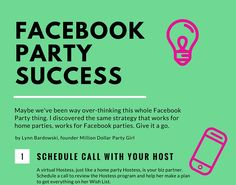 Holding successful Facebook Parties is like following the yellow brick road in search of the Wizard. It takes courage to get out of your comfort zone, heart to provide great customer service and br…