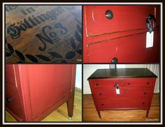 Red Antique Dresser