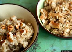 7 Healthy Hot Breakfast Cereal Recipes- hot cereal with quinoa oats and flax