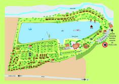 Camping le Lac Bleu kaart / frankrijk