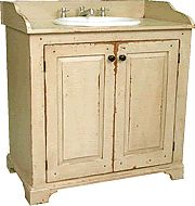 Primitive Country Bathrooms | Vintage Country Cottage Bathroom Vanities and Cabinetry
