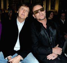 #PaulMcCartney sat next to #U2 frontman Bono at #StellaMcCartney's A/W '13 presentation.