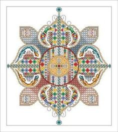 H idea Interesting shape; new colors Free+Cross+Stitch+Pattern+Flower | Vickery Collection Celtic Flower Cross Stitch Pattern
