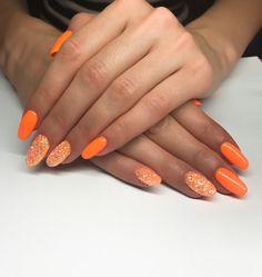 #letnie #paznokcie #hybrydy #kolor #pomarańczowy #indigo #ohsospecial  i #pixeleffect #summer #nails #hybrid #color #orange