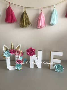 Unicorn Centerpiece Decoration/ Unicorn by PoshCoutureDesigns