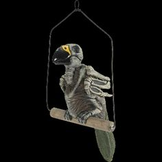Oh, no! Polly's DEAD? Life Size Realistic Creepy ZOMBIE SKELETON GHOST PARROT DEAD BIRD Pirate Prop Building Decoration. Skeletal Aviary Walking Dead inspired Parrot is here to greet your Halloween Haunted House and Horror Circus Carnival guests. http://www.horror-hall.com/Zombie-Pirate-HAUNTED-PARROT-Dead-Bird-Haunted-House-Luau-Prop-HH-FM-70715.htm
