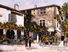 Maurice Utrillo House With Pillars And Hotel In Perugia oil painting reproductions for sale
